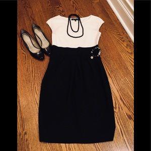 Jones New York Black & White Dress